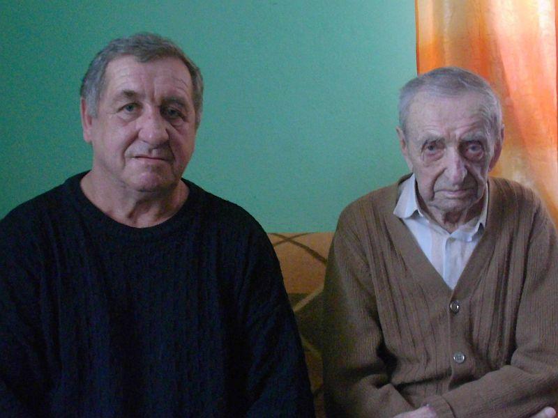 Jan Dłuski z synem Adamem - kowal